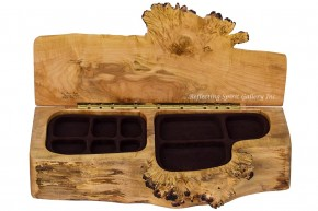Maple Burl Double Jewelry Chest