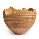 Natural Edge Maple Vessel With Bead Pattern