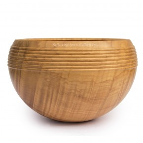 Maple Bowl With Bead Rim