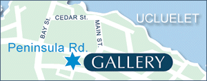 Map of Reflecting Spirit Gallery in Ucluelet, BC